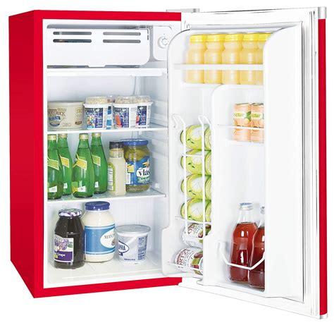 retro red mini fridge freezer compact dorm beverage beer
