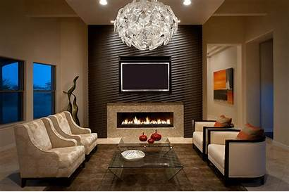 Accent Wall Living Accents Fireplace Chandelier Walls