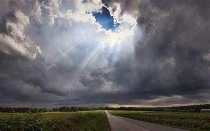 Clouds Storm Cloud Sun Through Sunlight Wallpapers