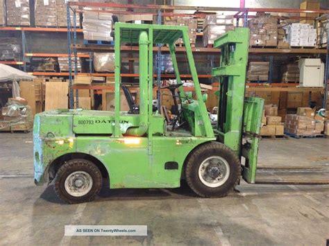 Datsun Forklift by Nissan Datsun Fg107 8000lb Forklift