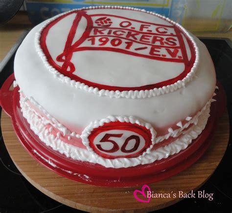 kuchen 50 geburtstag ofc torte