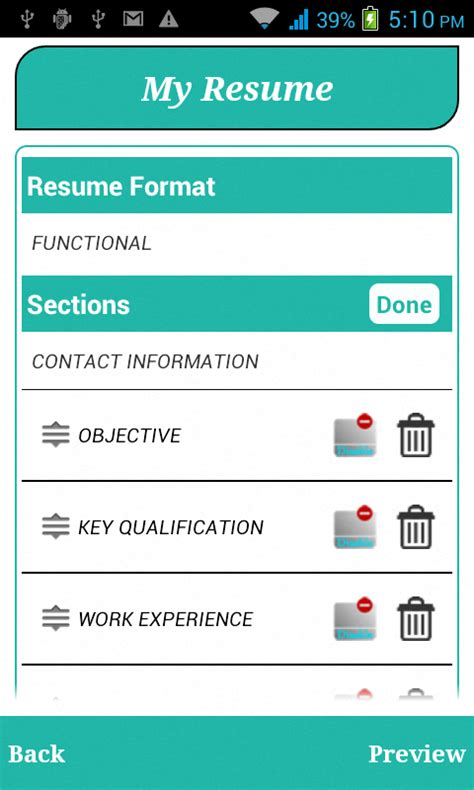 Resume Building App by Smart Resume Builder Cv Free Android Apps On Play