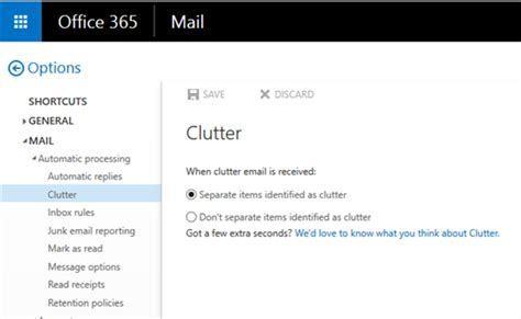 Office 365 Mail Going To Clutter email how to disable quot clutter quot feature in office 365