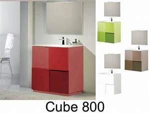 meubles lave mains robinetteries meuble sdb meuble With meuble sous vasque suspendu 4 meuble salle de bain pmr simple vasque morphea 80 gris