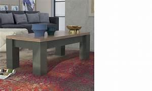 Table Basse Moderne : table basse moderne laqu anthracite et couleur bois lugano ~ Preciouscoupons.com Idées de Décoration