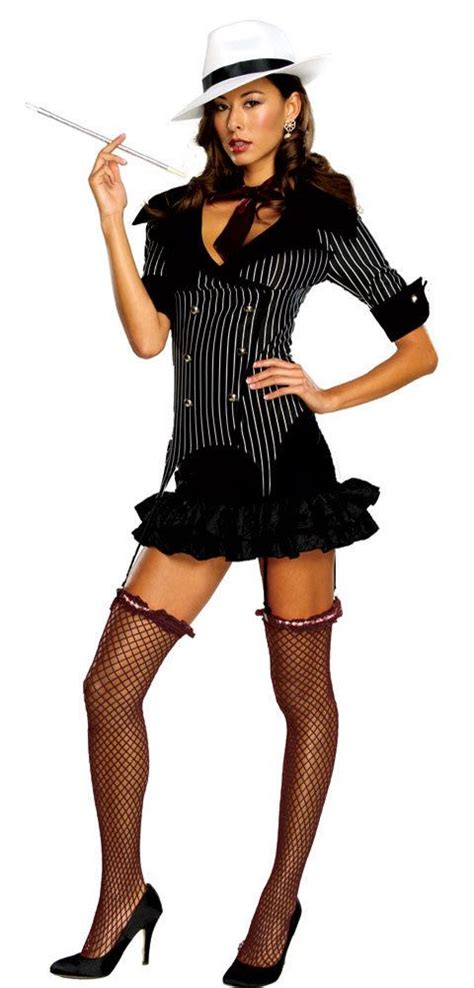 Sexy Gangster Doll Costume Mafia Costumes - for the gangster theme ) | Sexy Halloween Costumes ...