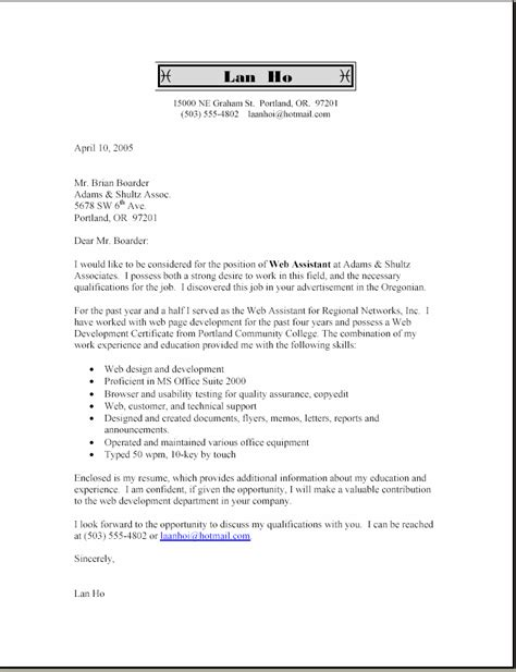 Bullet Type Resume by Doc 7681000 Cover Letter Sle With Bullets Inside