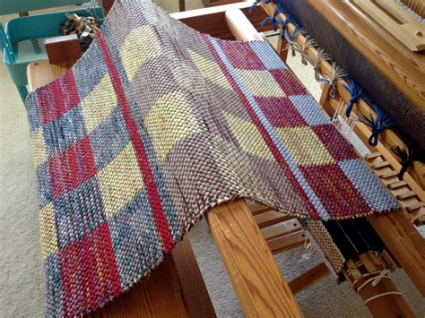 rag rug loom for when a new rag rug is unrolled warped for
