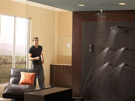 high tech bathroom digital spa experience digital showers create a personalized shower or bath based on the bather