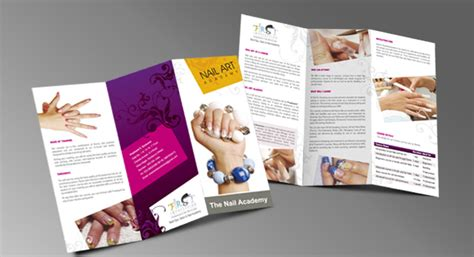 Two Fold Brochure Design by Two Fold Brochure Design For Nail Treatment Saloon