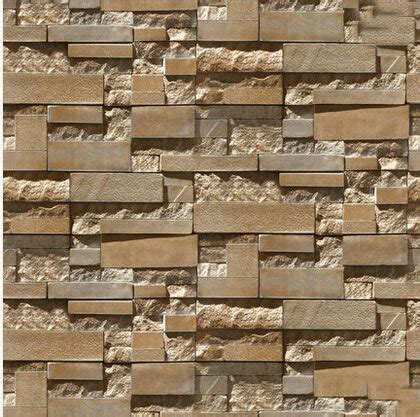 stone brick wall paper grey luxury wallpaper  living