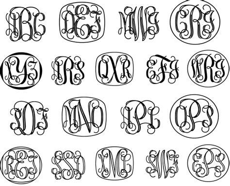 Monogram Letters Font On Pinterest