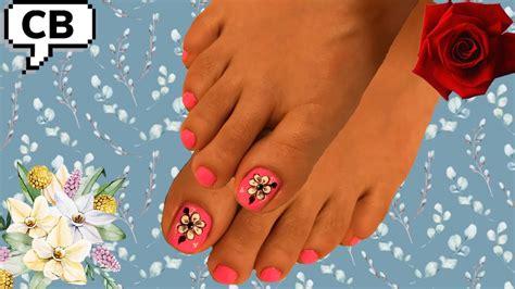 Causas, síntomas y tratamientos analizamos. Aprende a decorar flores Básica en uñas de los pies - YouTube