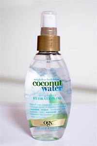 Review OGX Coconut Water Hydration Oil Hair Spray Bloomzy
