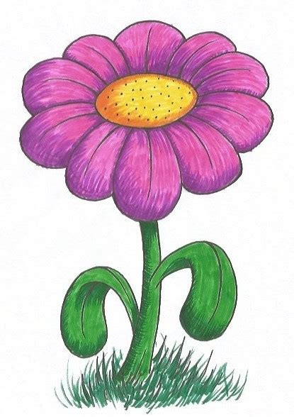 easy flower drawing tutorial    clipartmag