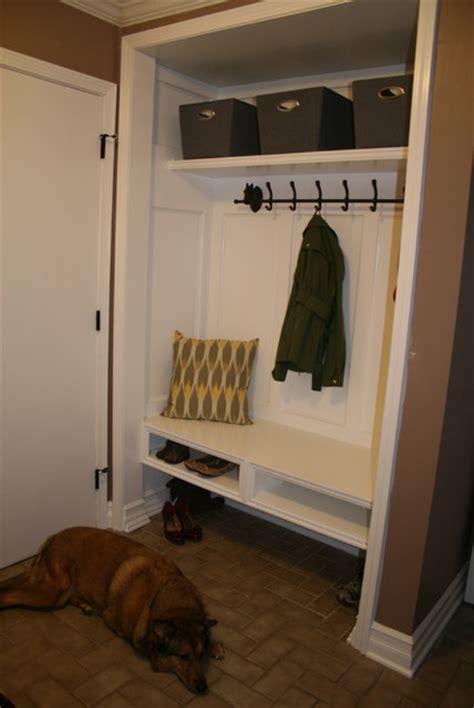 closet conversion  mudroom modern detroit