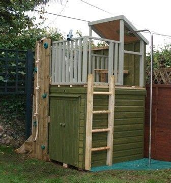 playhouse garden shed sheds storage sheds and climbing wall on