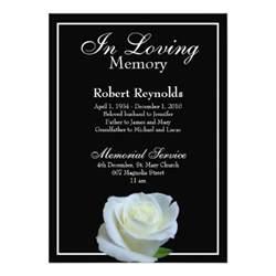 memorial announcement