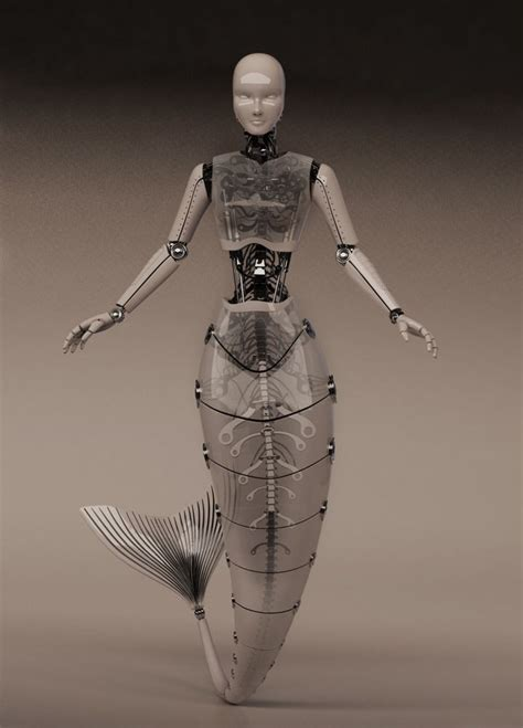 robot mermaid waiting  costume  makeup  set