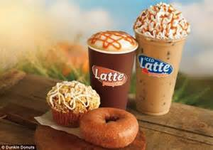Pumpkin Iced Latte Dunkin Donuts how many calories are in your favorite seasonal drinks