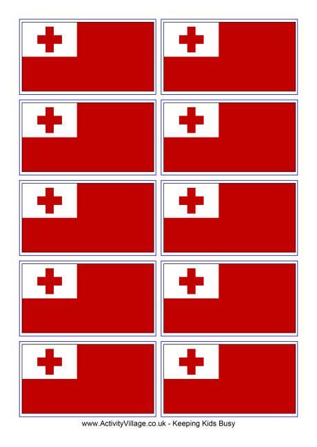 cook island flag template tonga flag printable