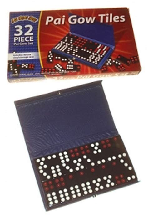 pai gow tiles trainer 32 pai gow tiles domino set in vinyl new item