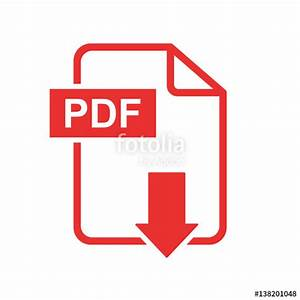 """PDF download vector icon. Simple flat pictogram for ..."