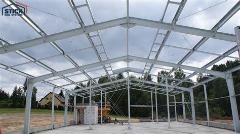 steel halls design  construction stick hall systems