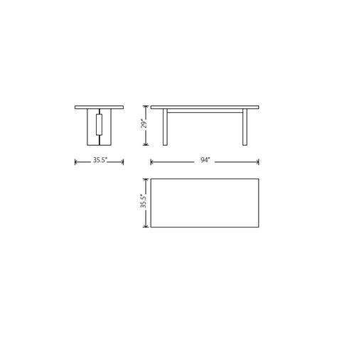 Standard Dining Room Table Size Marceladickcom