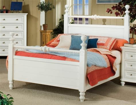 white  black casual cottage style pc bedroom set