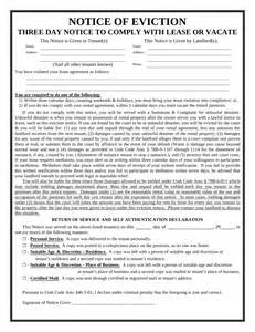 3-Day Eviction Notice Form