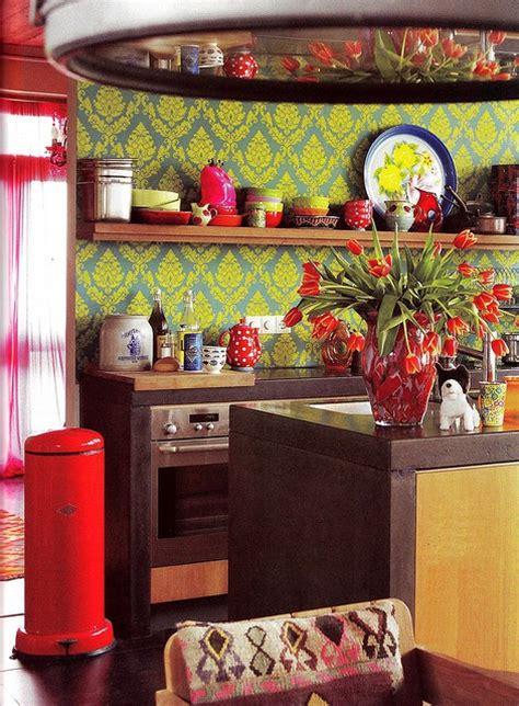 bright  colorful kitchen design ideas digsdigs