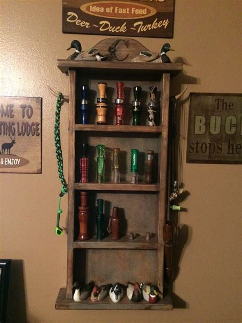 duck call display shelf duck hunting decor duck hunting