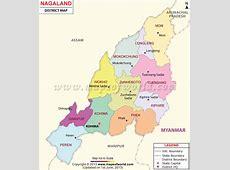 Nagaland Map, Districts in Nagaland