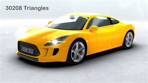 Models Sports Car by 3d Model Generic Sports Car Realtime Vr Ar Low Poly