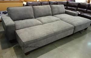 chaise sofa with storage ottoman costco frugalhotspot With costco sectional sofa with storage ottoman