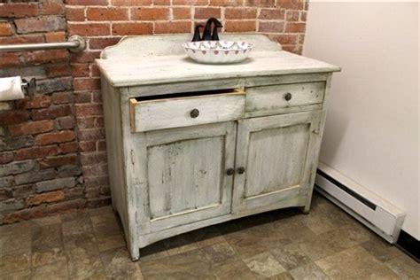 White Bathroom Vanity From Reclaimed Wood