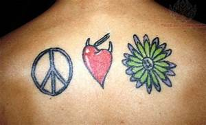 Gallery For > Peace Love Happiness Symbol Tattoos