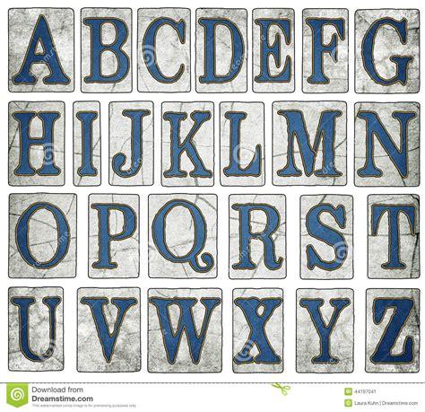 new orleans tiles digital alphabet stock image