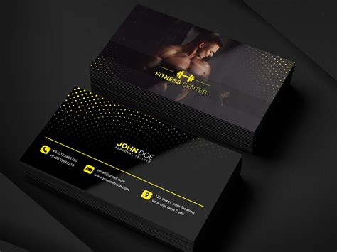 If you're a personal fitness trainer affiliated with a local gym or working as an independent contractor, you need a professional business card. Gym Business Card by Maitrayee on Dribbble