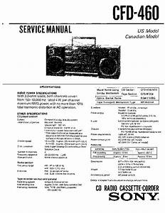 Sony Cfd-460 Service Manual