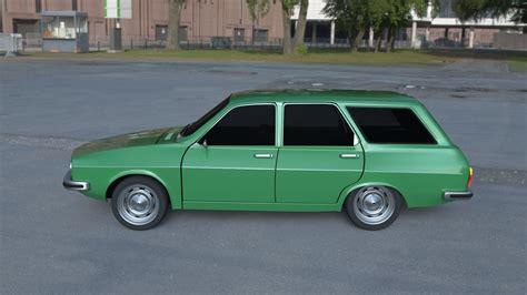 renault dacia renault 12 dacia 1300 estate hdri 3d model obj blend dae