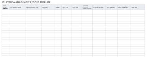 itil templates smartsheet