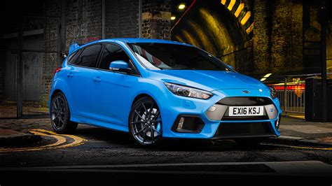 wallpaper ford focus rs hatchback blue cars bikes