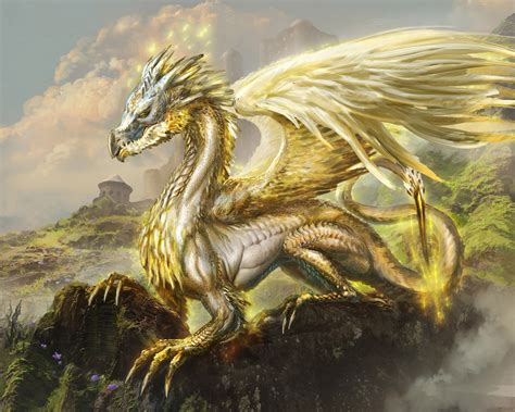 White And Gold Dragon, Not With Blue Eyes