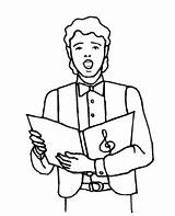 Singer Boy Coloring Choral Printable Freeprintablecoloringpages Colouring Boys Characters sketch template