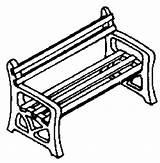 Park Benches Bench Campbell Ho Plastic Scale Pack Kit Template Coloring Pages Templates sketch template