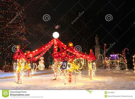 christmas carousel display stock image image  christmas
