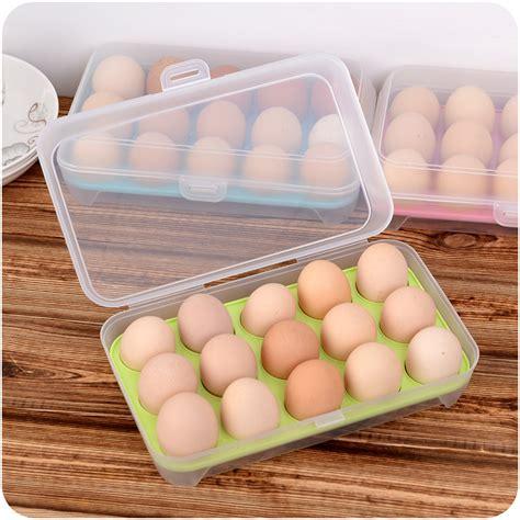 storage for eggs in kitchen 15 eggs holder plastic refrigerator egg storage box 8370