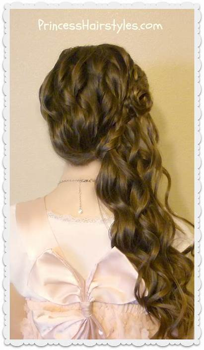 Side Braided Hairstyle Rose Swept Hairstyles Flower